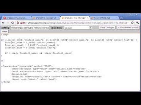 tutorial php contact form beginner php tutorial 101 creating a simple contact