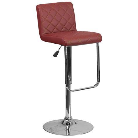 cushioned bar stool flash furniture adjustable height burgundy cushioned bar