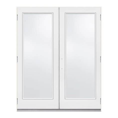 Jeld Wen 72 In X 80 In Steel White Prehung Left Hand Outswing Patio Doors