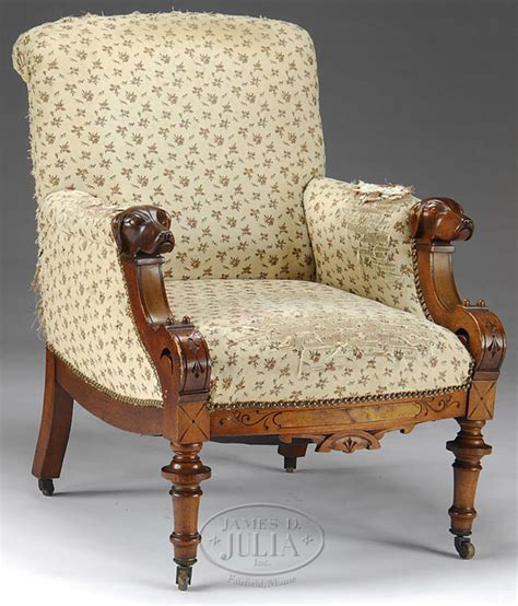 dog armchair furniture chair arm victorian renaissance revival