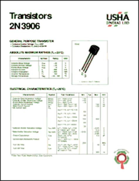 2n3906 transistor datasheet pdf 2n3906 datasheet general purpose transistor collector emitter voltage vceo 40v collector