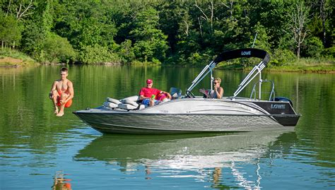 fishing boat with deck 2019 sd224 fishing ski aluminum deck boat lowe boats
