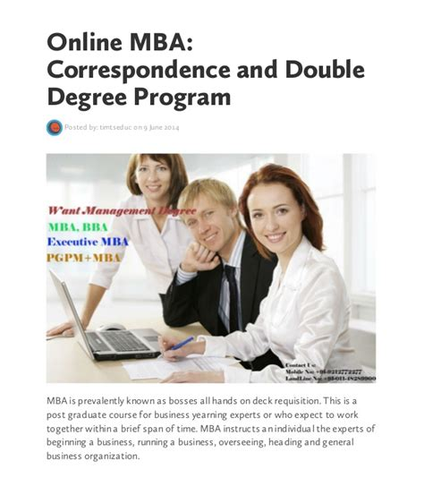 Distance Mba Degree by Mba Correspondence And Degree Program