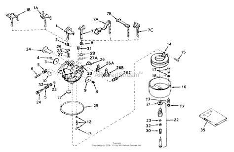 s s carb parts diagram tecumseh ca 631158 parts diagram for carburetor