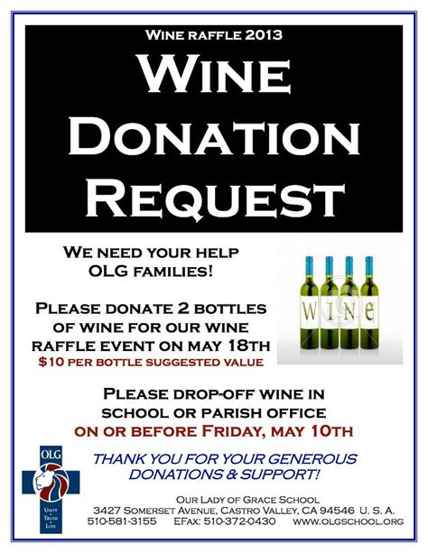 Sponsorship Letter For Wine 5 8 13 News From Olg School