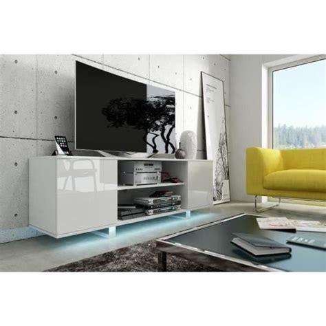meuble tv t 233 l 233 vision avec led vero blanc blanc