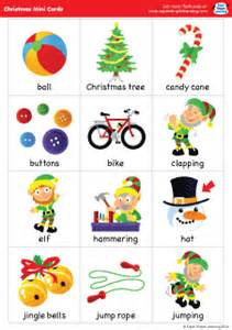 Free christmas and winter themed flashcards to go with the super
