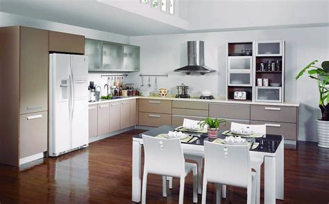White Kitchen Island Table by Dining Room And Kitchen Cabinets Design Picture 3d House