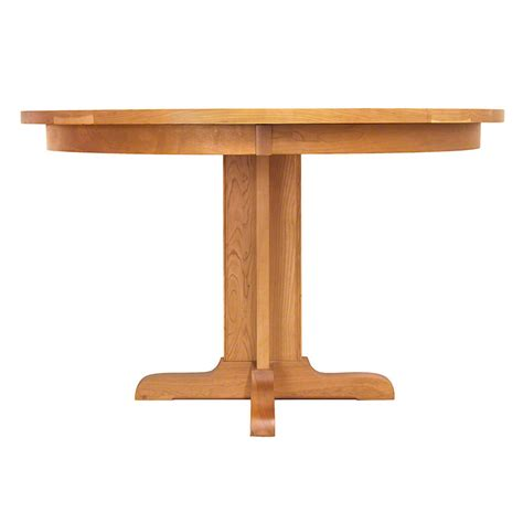 Single Leg Dining Table Single Leg Pedestal Table Vermont Woods Studios