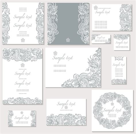 15 free wedding invitation vectors images free vector