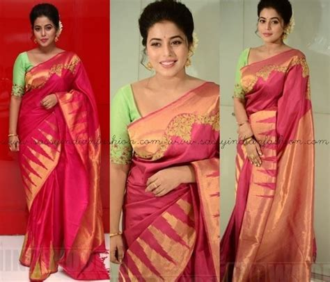 which colour blouse suits for pink saree 17 best images about south indian fashion on blouse designs anarkali suits and