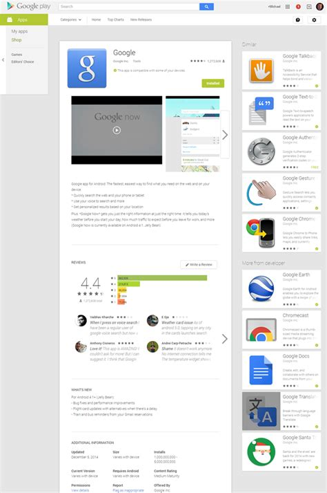layout android google the google play store s app page layout on the web has