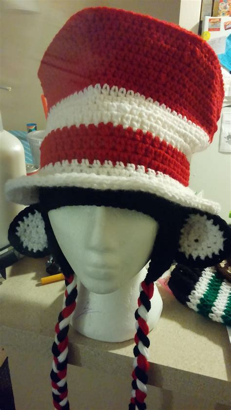 pattern cat in the hat hat the cat in the hat in crochet make