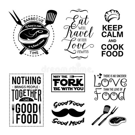 kitchen design free quote set of vintage food related typographic quotes vector