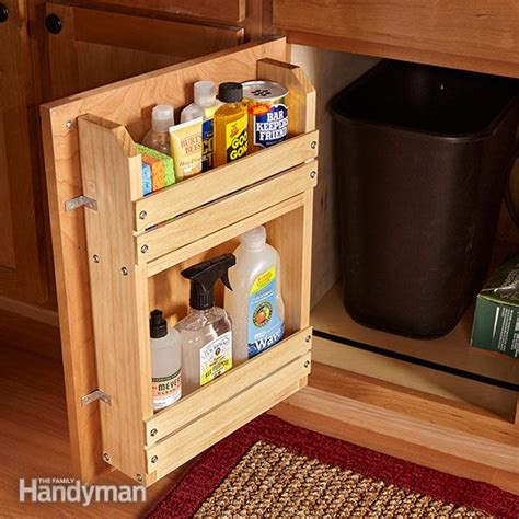 Cabinet Door Storage Rack The Family Handyman Kitchen Cabinet Door Storage Racks