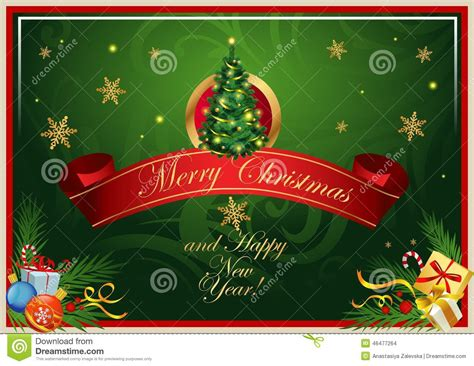 classic christmas card stock vector image