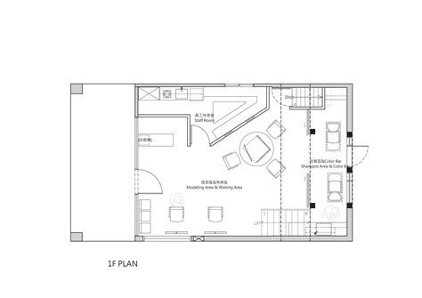 hair salon floor plans gallery of renovation of split level hair salon