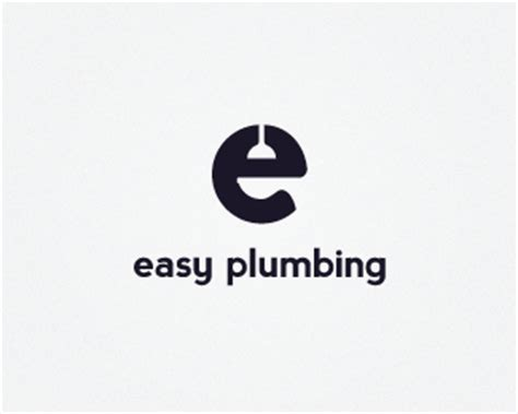Plumbing Is Easy by Letter E Logo Design 20 Energetic Exles