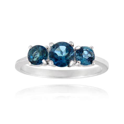 Blue Topaz Memo 99 2ct 925 silver 1 2ct blue topaz three ring ebay