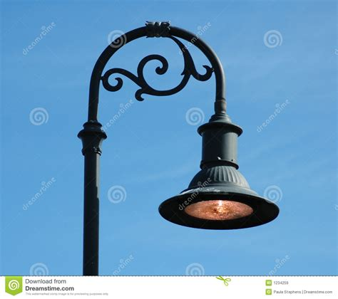 Lamp Designers curved lamp post royalty free stock images image 1234259