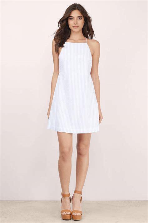 light blue and white striped dress white light blue day dress white dress a line dress