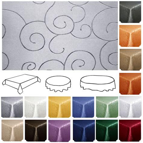 tischdecke ornamente ranken eckig oval rund tischw 228 sche - Tischdecken Tipp