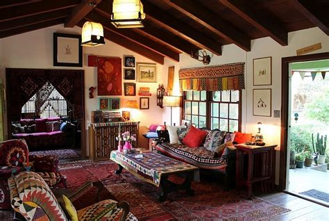 Hippie Chic Living Room bohemian style interiors living rooms and bedrooms