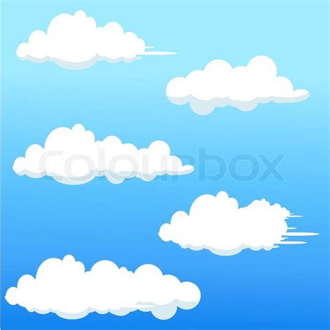 Home Decoration Wallpaper by Illustration Of Cloud Shapes On Abstract Background