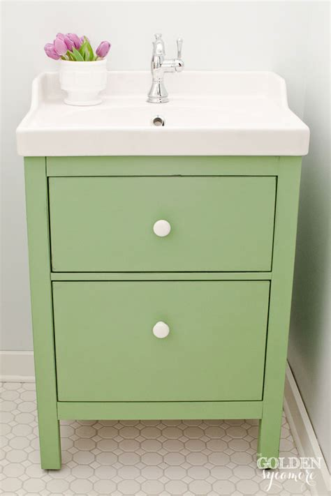 ikea bathroom vanity green ikea custom bathroom vanity the golden sycamore