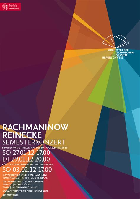 Plakat Design by Arbeit Corporate Design F 252 R Das Orchester Der Tu