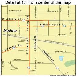 Medina Ohio Map by Medina Ohio Street Map 3948790
