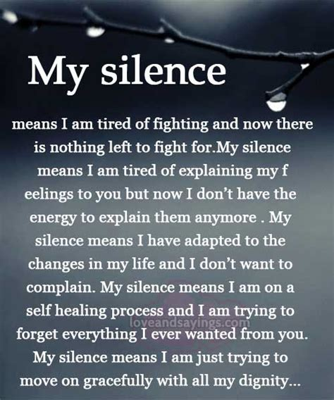 quotes for my my silence quotes quotesgram