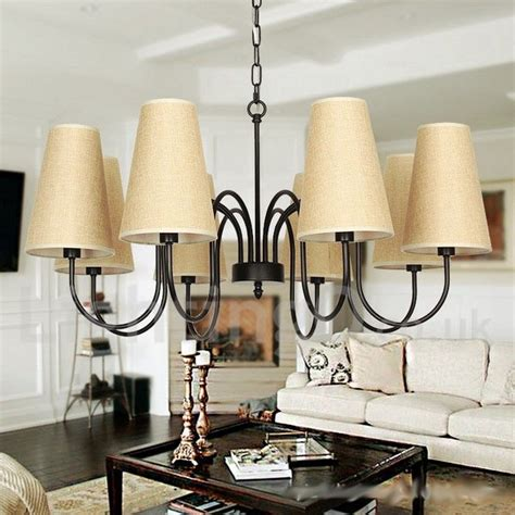 Dining Room Candle Chandelier 8 Light Retro Contemporary Living Room Dining Room Bedroom Candle Style Chandelier Lightingo Co Uk