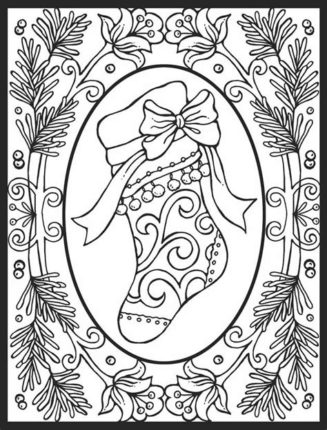 hard pretty christmas coloring pages christmas close