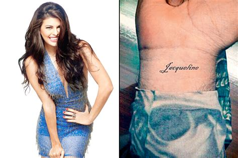 jacqueline fernandez s fan tattooed her name on his wrist