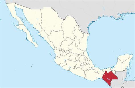 map of mexico chiapas file chiapas in mexico location map scheme svg
