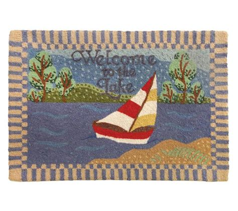 Welcome Rug by Lake Welcome Rug Farmhouse And Cottage