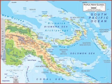 physical map of papua new guinea papua new guinea maps academia maps