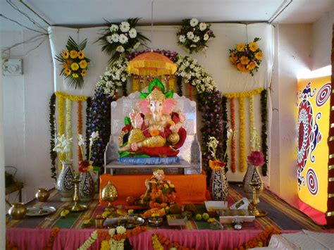 home decoration of ganesh festival ganpati pandal decoration lord ganesha pinterest