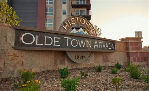 olde town arvada monument signs aura