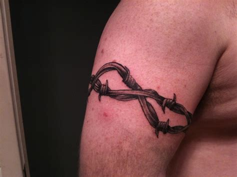 barb wire tattoo viewing image barbed wire ink trails forum