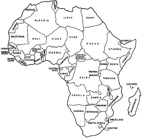free africa map coloring pages murderthestout