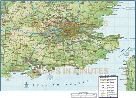 map uk south east vector south east map county political road and