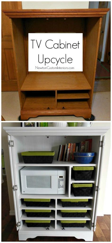 Upcycled Tv Armoire by Tv Cabinet Upcycle