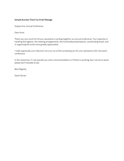 Business Letter Exle Thank You Business Thank You Letter Template Thank You Business Letter Template Ibfnrw The Best Letter