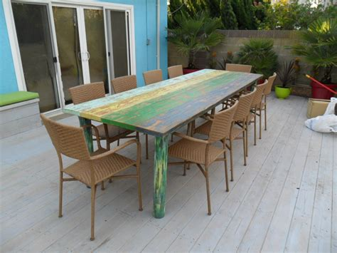 dining table from reclaimed wood usa made