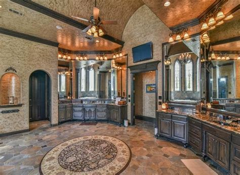 19,000 Square Foot Castle Like Stone & Brick Mansion In