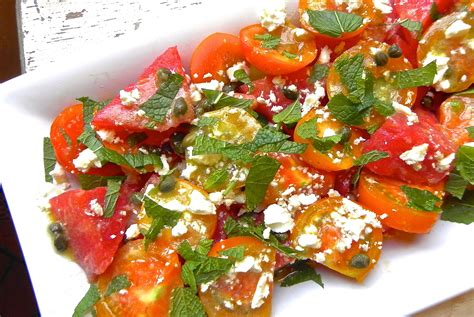 watermelon tomato salad tomato watermelon salad with feta and mint the good eats