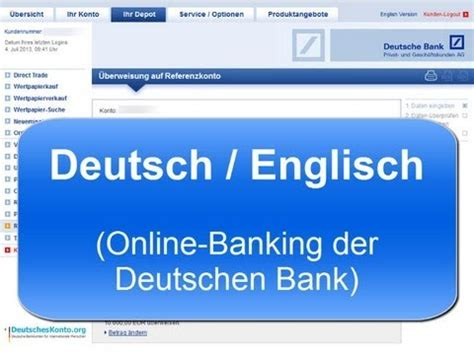 deutsche bank onlinebanking deutsche bank banking in