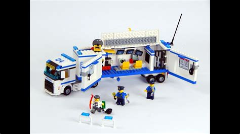 lego city  mobile police unit speed build  review youtube